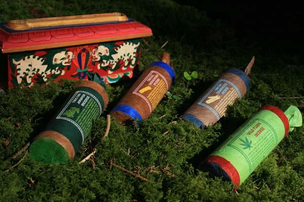 Mandala – traditionelles tibetisches Räucherwerk