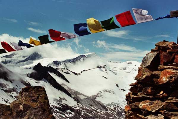 Wunschfahnen  – Tibetische Gebetsfahnen